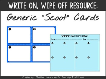 Differentiated SCOOT Cards