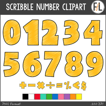 Scribble Numbers Clipart