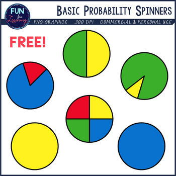 Probability Spinners Clipart