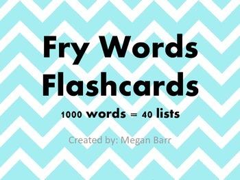1000 Fry Word Flashcards