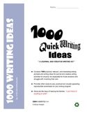 1000 Quick Writing Prompts and Ideas - writing tools, forms worksheets