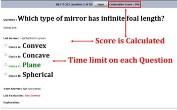 1000 MCQ SCIENCE TEST IN A SOFTWARE COMMON TO MIDDLE SCHOOL  TOTAL 18 TOPICS