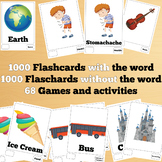 1000 X 2 English Flash Cards Bundle (2000 flash cards with