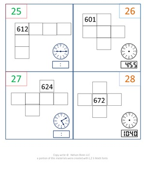 1st Gr & 2nd Gr Math Calendar - hundreds chart puzzles, time, odd/even