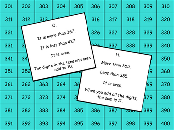 1000's Chart Clue Challenge