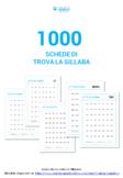 1000 schede di Trova la sillaba divise per attività