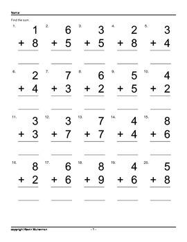 100,000 Addition Questions Math