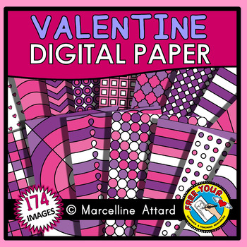 VALENTINES DAY DIGITAL PAPER BACKGROUNDS