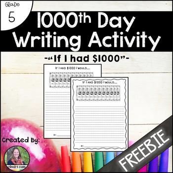 1000th Day Writing Activity {freebie}