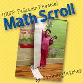 1000th Follower Freebie! Math Scroll 1000 Club