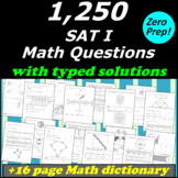 1,001 SAT1 Math Multiple choice practice questions