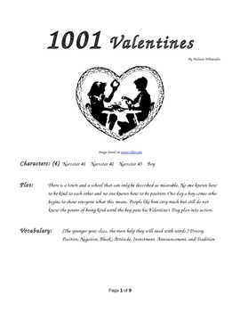 1001 Valentines - Small Group Reader's Theater