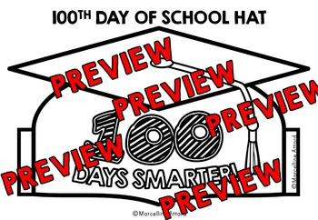 100TH DAY OF SCHOOL CROWN (GRADUATION HAT TEMPLATE) 100TH DAY OF SCHOOL HAT