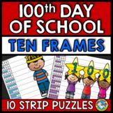 100TH DAY OF SCHOOL KINDERGARTEN ACTIVITY (NUMBER SENSE CENTER) TEN FRAMES