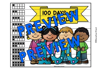 100TH DAY OF SCHOOL KINDERGARTEN ACTIVITY (NUMBER SENSE CENTER) TEN FRAMES