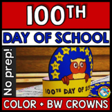 100TH DAY OF SCHOOL ACTIVITY KINDERGARTEN CRAFT HAT (100TH