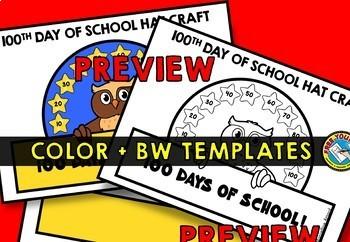 100TH DAY OF SCHOOL CROWN ACTIVITY KINDERGARTEN HAT