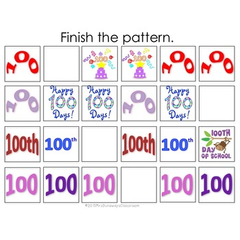 100TH DAY Patterns