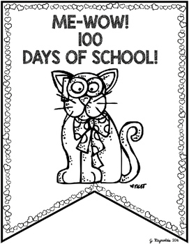 100th Day Student Pennants and Award Certificate {FREEBIE}