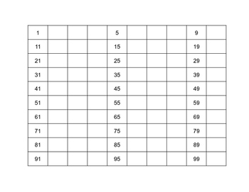 Back to School 100s-200s Grids for Math Support/ Number Sense