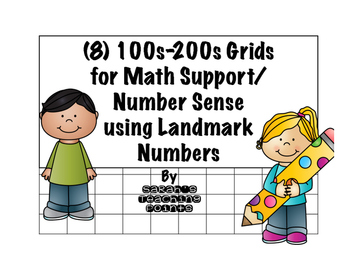 100s-200s Grids for Math Support/ Number Sense using Landm