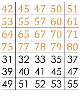 100s Chart Art Set 1 -- K-1