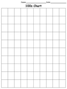 100s Chart - Blank - Full-page - King Virtue