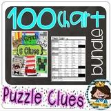 100s Chart Clue Puzzle Bundle