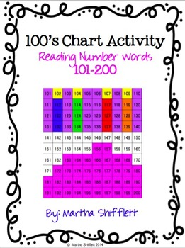 100's Chart Hidden Birthday Cake Picture Activity Reading