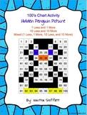 100's Chart Hidden Penguin Picture Activity 1 Less, 1 More