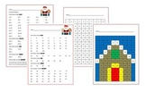 100s Chart Hidden Picture. 2 versions of both pictures! Christmas, Gingerbread
