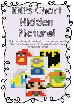 100's Chart Hidden Pictures!