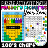 100s Chart Mystery Picture Interactive Puzzle Mats