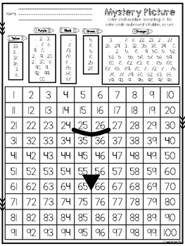 100's Chart Mystery Picture: Jack-O-Lantern Pumpkin