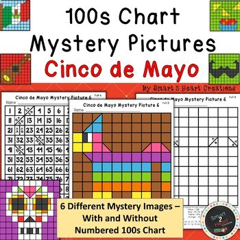 100s Chart Mystery Pictures - Cinco de Mayo - Math Place Value