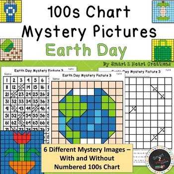 100s Chart Mystery Pictures - Earth Day - Place Value