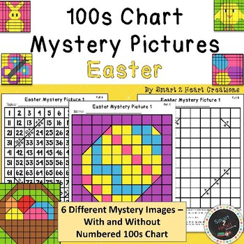 100s Chart Mystery Pictures - Easter - Math Place Value