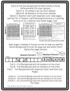 100s Chart Mystery Pictures - New Years - Math Place Value