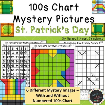 100s Chart Mystery Pictures - St. Patrick's Day - Math Place Value