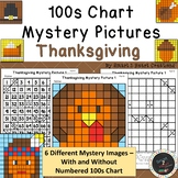 100s Chart Mystery Pictures - Thanksgiving - Math Place Value