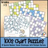 100s Chart Math Puzzles
