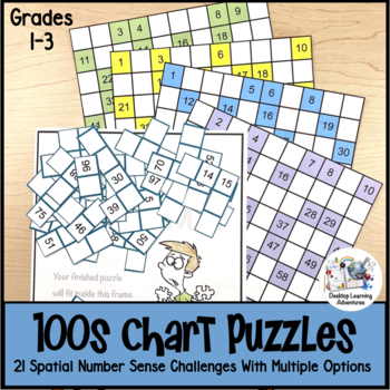 100s Chart Math Puzzles