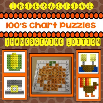 100's Chart Puzzles: Thanksgiving Edition