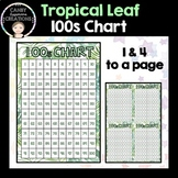 100s Chart - Tropical Leaf