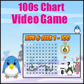 100s Chart Game - Engaging Math Game for Smartboard - Great Math Warm Up