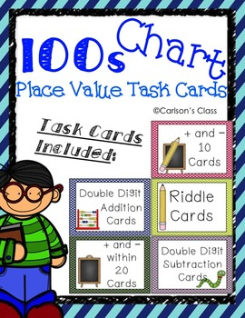 100s Chart with Place Value Task Cards