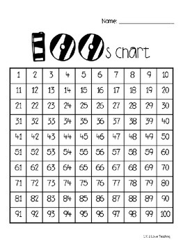 100s Chart with Tips and Uses