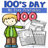 Hundred's Day 55 No Prep Printables