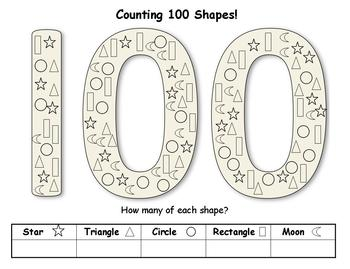 100's Day Activities - 9 activities