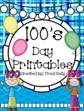 100's Day Celebration HUGE Printable Pack